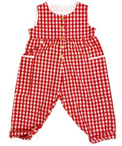 Red Checked Dungarees